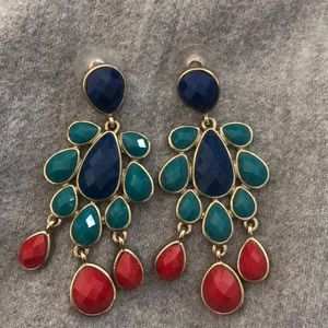 multi-colored statement earrings